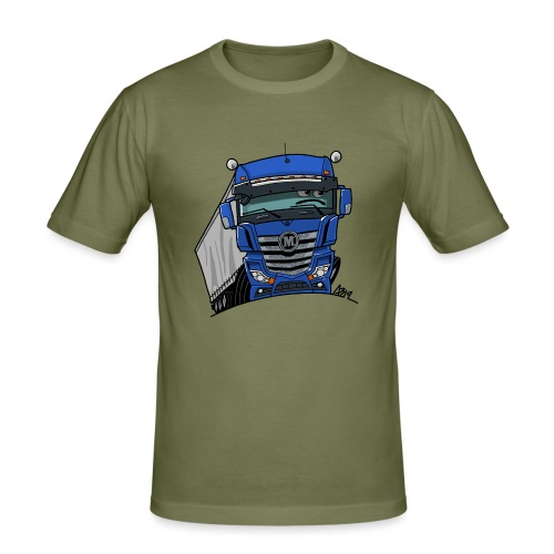 0807 M truck blauw trailer - slim fit T-shirt