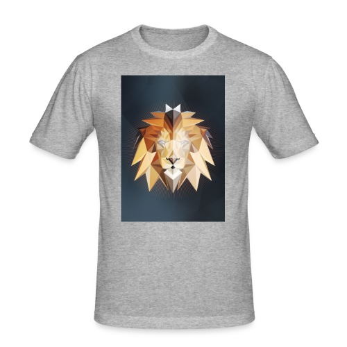 Polygon Lion - Männer Slim Fit T-Shirt