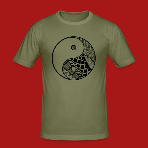 Decorative-Yin-Yang - Herre Slim Fit T-Shirt