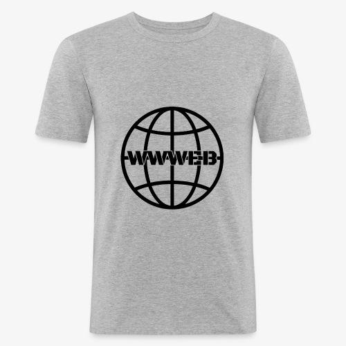 WWWeb (black) - Men's Slim Fit T-Shirt