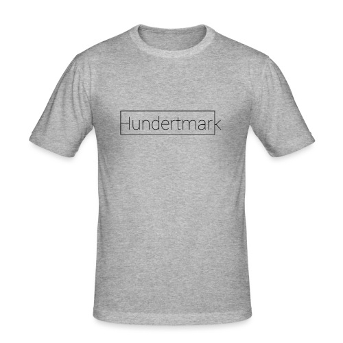 Hundertmark black - Männer Slim Fit T-Shirt