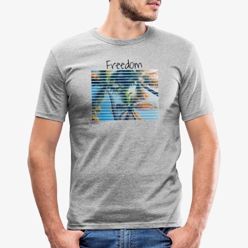 Freedom - Maglietta aderente da uomo