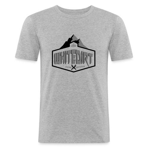 White Dirt Mountain Eco White / Orange - Men's Slim Fit T-Shirt