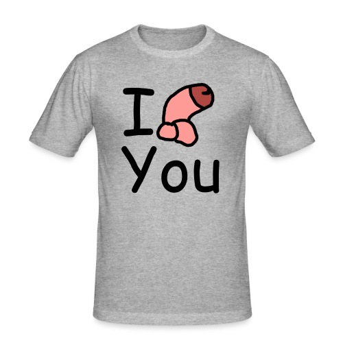 I dong you cup - Men's Slim Fit T-Shirt