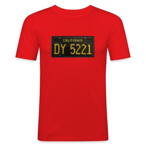 CALIFORNIA BLACK LICENCE PLATE - Men's Slim Fit T-Shirt
