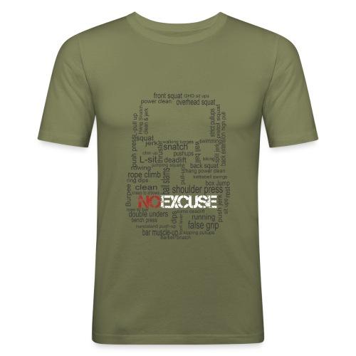 KB exercices version black png - T-shirt près du corps Homme