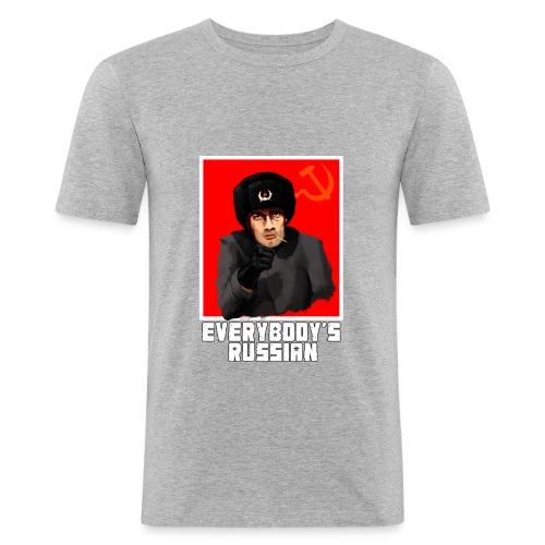 everybodys russian - Men's Slim Fit T-Shirt