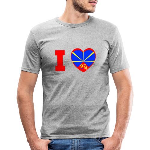 I love 974 - Lo Mahaveli - T-shirt près du corps Homme