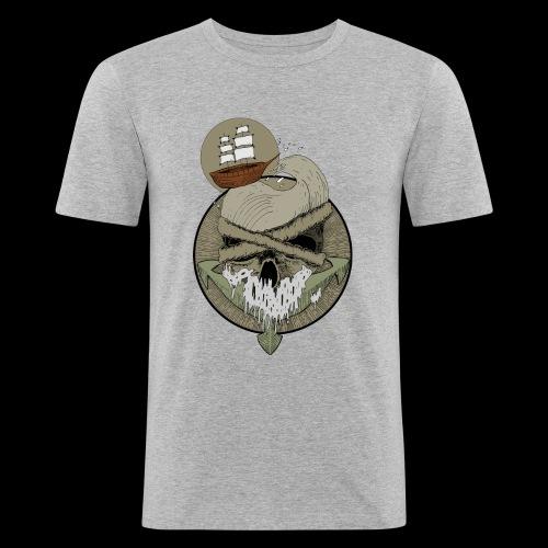 Ancre skull - T-shirt près du corps Homme