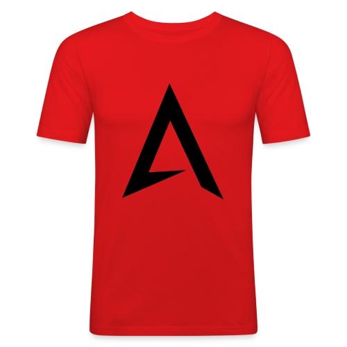 alpharock A logo - Men's Slim Fit T-Shirt
