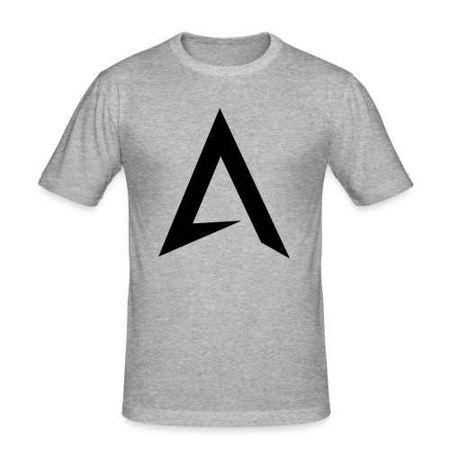 alpharock A logo - Men's Slim Fit T-Shirt