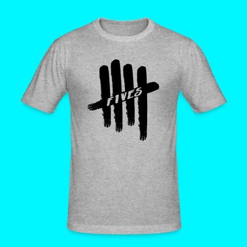fives black 2 - T-shirt près du corps Homme