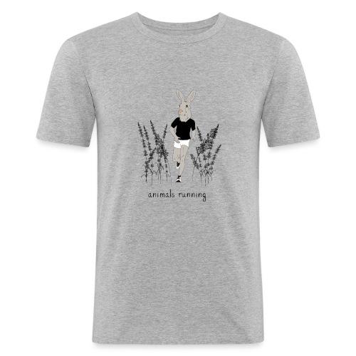 Lièvre running - T-shirt près du corps Homme