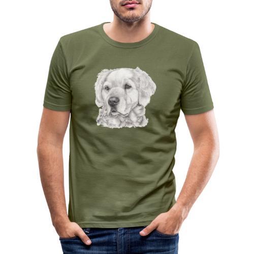 golden retriever - Herre Slim Fit T-Shirt