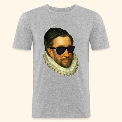 Fijn Uitgedoste Barbaar (zonder tekst) - Mannen slim fit T-shirt