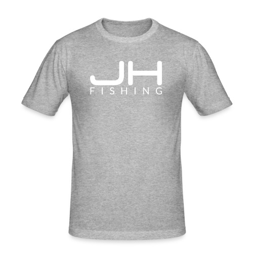 JH FISHING-Logo (Weiß) - Männer Slim Fit T-Shirt