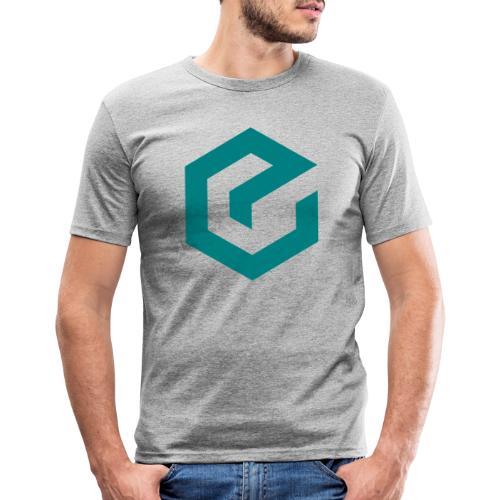 Elate logo - Slim Fit T-skjorte for menn