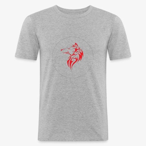 The NoCopyright BassBooster Logo No black - Mannen slim fit T-shirt