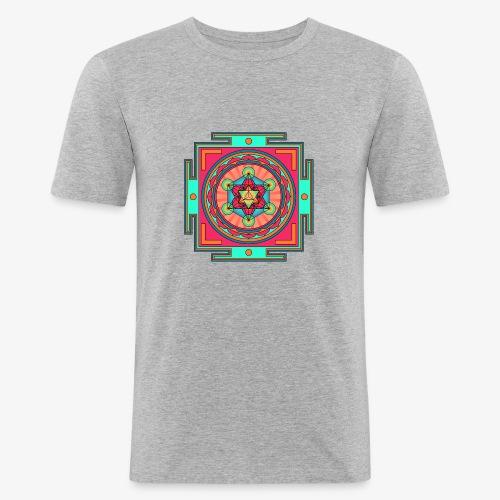 Mandala- Merkaba - Slim Fit T-shirt herr