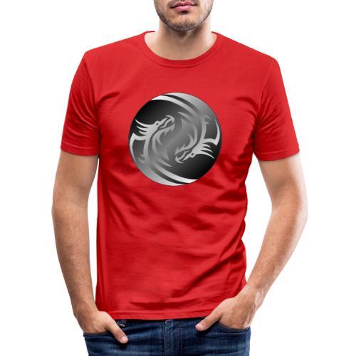Yin Yang Dragon - Men's Slim Fit T-Shirt