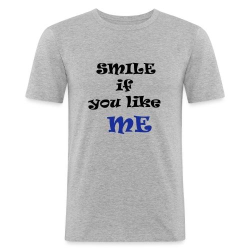 smile - T-shirt près du corps Homme