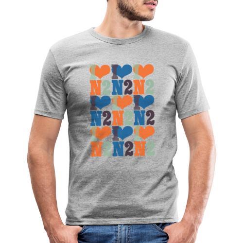 East Finchley I Love N2 pattern - Men's Slim Fit T-Shirt