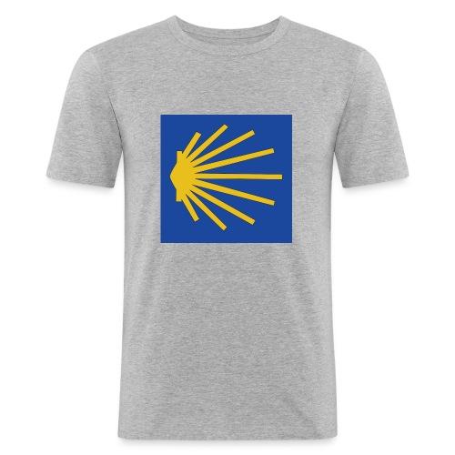 Muschel Wegweiser - Männer Slim Fit T-Shirt