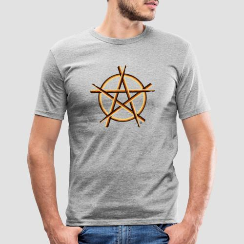 PAGAN DRUMMER - Men's Slim Fit T-Shirt