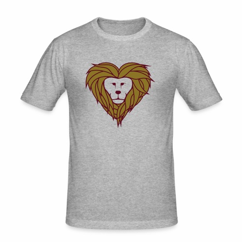 Lior heart - Mannen slim fit T-shirt