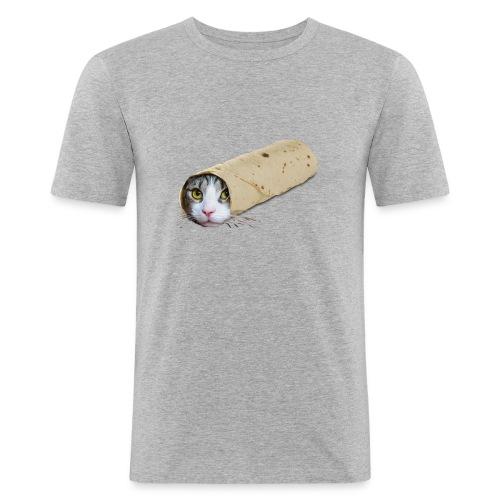 purrrito - Mannen slim fit T-shirt