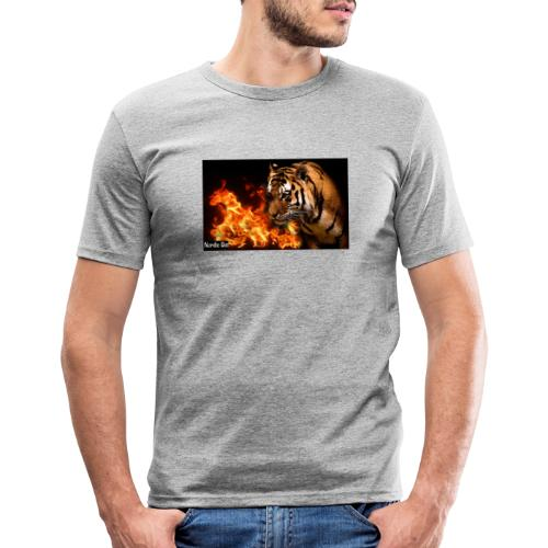 Tiger Flame - Herre Slim Fit T-Shirt
