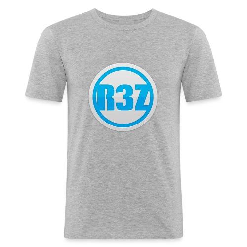 RezTv Logo - Miesten tyköistuva t-paita