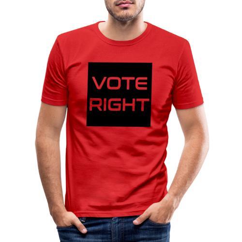 vote right - Männer Slim Fit T-Shirt