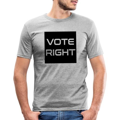 vote right - Männer Slim Fit T-Shirt