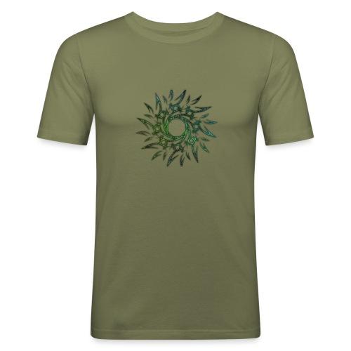 Tribale - Maglietta aderente da uomo