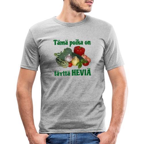 Poika täyttä heviä - Miesten tyköistuva t-paita