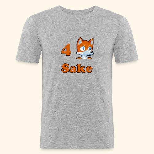 4 Fox Sake - Slim Fit T-shirt herr