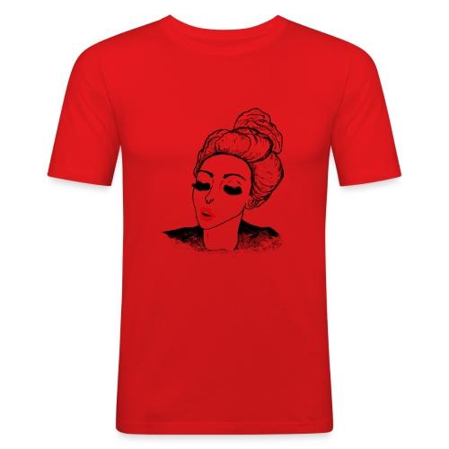 Vintage Retro Girl Kiss message - Men's Slim Fit T-Shirt