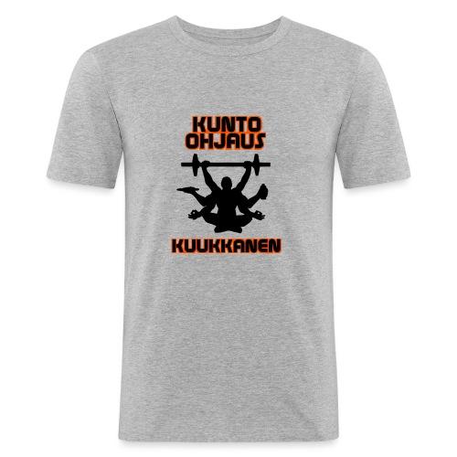Kunto-ohjaus Kuukkanen Logo - Miesten tyköistuva t-paita