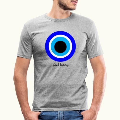 luck eye - Mannen slim fit T-shirt