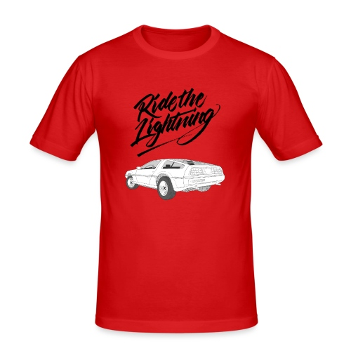Delorean – Ride The Lightning - Männer Slim Fit T-Shirt