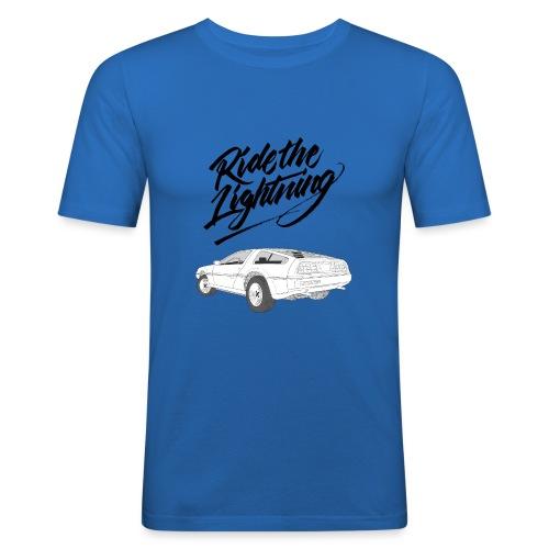 Delorean – Ride The Lightning - Männer Slim Fit T-Shirt