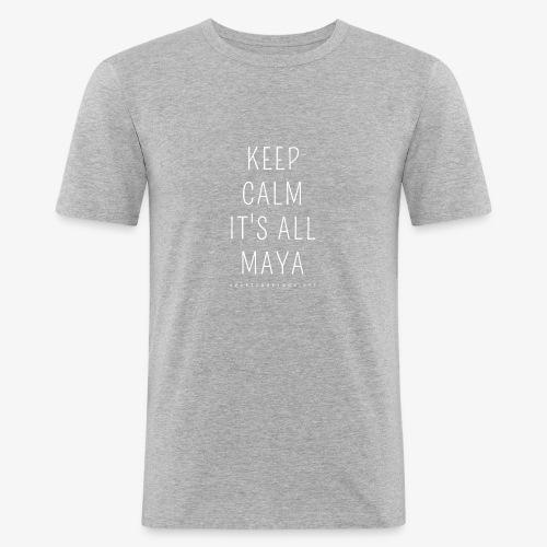 Heartcore Yoga 'It's All Maya 1' - Mannen slim fit T-shirt