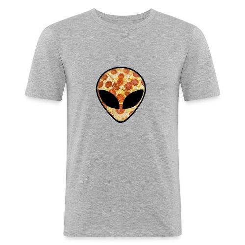 Pizza_alien - Maglietta aderente da uomo