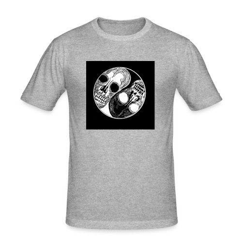 Yng yang skull - T-shirt près du corps Homme
