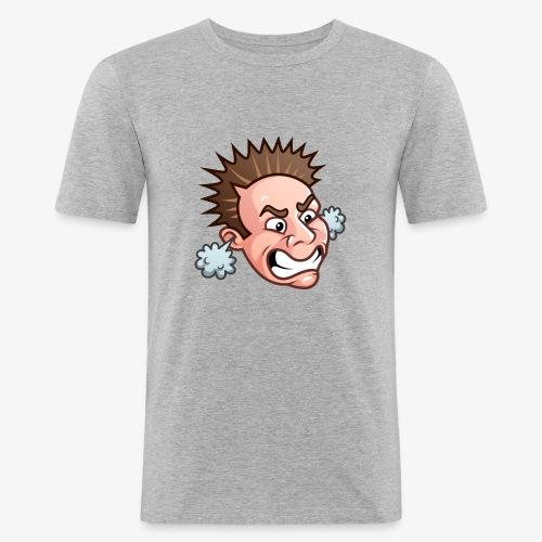 JordanBelfort87 Rage Emoji - Männer Slim Fit T-Shirt