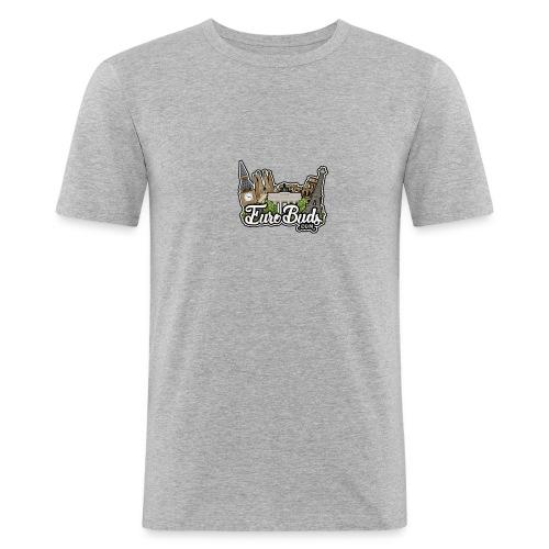 eurobudslogo - Männer Slim Fit T-Shirt