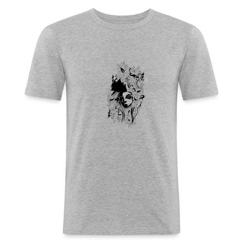 Akasacian tshirt design 611 - Camiseta ajustada hombre