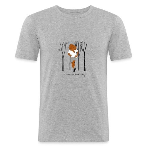 Lion running - T-shirt près du corps Homme