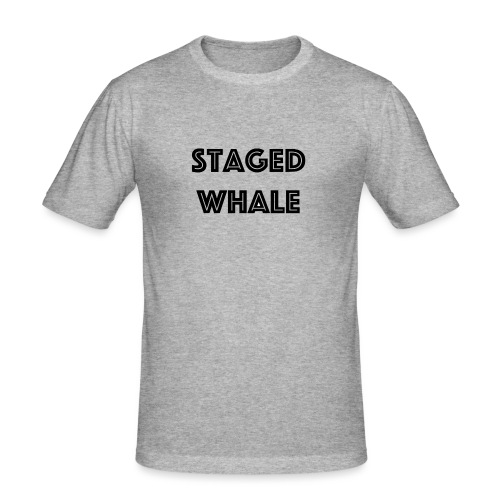 Staged Whale - Mannen slim fit T-shirt